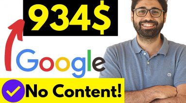 Earn 937$/Month From Google Without Writing Content! [Full Free Course]