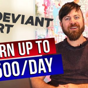 Make $100/Day Chatting with Artists | DeviantArt Make Money Online Method, Affiliate Marketing