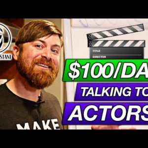 Make $100 A Day Talking To Actors (400,000+ Potential Customers)