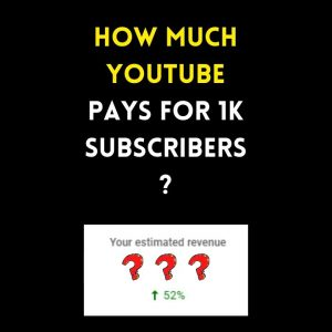 How Much YouTube Pays For 1K Subscribers???  #shorts